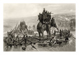Hannibal's Army Crossing the Rhone in Gaul to Attack Rome by Way of the Alps, 218 Bc Giclee Print