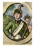 Rogers&#39; Rangers Leader Robert Rogers, French and Indian War Giclee Print