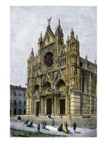 Cathedral of Siena, Italy, 1800s Giclee Print