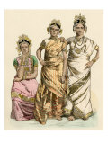 Women of Jaffna, Ceylon, in their Finest Traditional Clothing Giclee Print