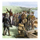 Aaron Burr Exhorting His Followers at Blennerhassett Island, Ohio River, 1805 Giclee Print