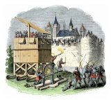 Moveable Siege Tower, Archers, and Cannon of Medieval Warfare Giclee Print