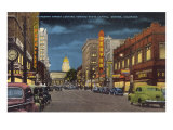 Sixteenth Street at Night, Denver Poster