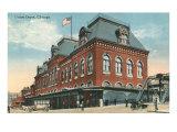 Union Depot, Chicago, Illinois Print