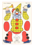 Articulated Clown Puppet Poster