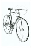 Black and White Photo of 10 Speed Bicycle Posters