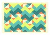 Geometric Op Art Waves Print