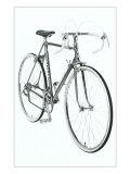 Black and White Photo of 10 Speed Bicycle Kunstdruck