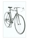 Black and White Photo of 10 Speed Bicycle Print