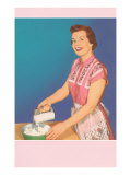 Woman with Hand Mixer Posters