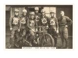 1935 Motorcyle Race Team Schilderij