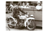 Cop on Motorcycle in Parade Prints