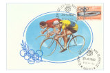 1960 Olympics, Two Bicycle Racers Posters