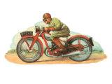 Jawa Motorcycle Racer Print