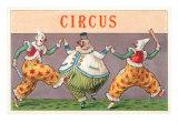 European Circus Clowns Kunstdruck
