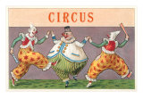 European Circus Clowns Print