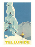 Skiing at Telluride, Colorado Poster