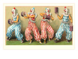 Four Clowns with Concertinas Posters
