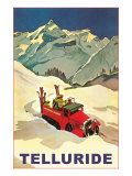 Lodge Vehicle in Snow at Telluride, Colorado Posters