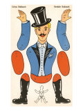 German Cut-Out Circus Barker Toy Poster