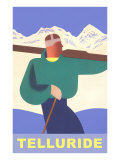 Simple Graphic Skier at Telluride, Colorado Posters
