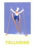 Child Skiing, Telluride, Colorado Giclee Print