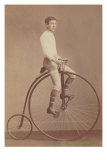 Photo of Man on Vintage Bicycle Photo