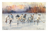 Vintage Ice Hockey, Telluride, Colorado Poster