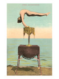 Circus Contortionist at Beach Poster