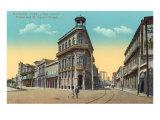 Prado and St. Lazaro Streets, Havana Poster