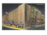 Chicago Stadium at Night, Chicago, Illinois Plakater