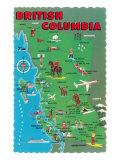 Map of British Columbia Posters