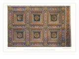 Intricate Coffered Ceiling Design Posters