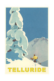 Skiing at Telluride, Colorado Pôsters