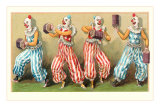 Four Clowns with Concertinas Photo