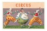 European Circus Clowns Prints