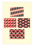 Black and Pink Geometric Patterns Posters