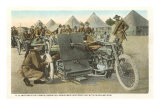 Armored Motorcycle with Machine Gun Print