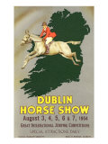 Horse Jumping over Map of Ireland Print