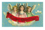 Easter Greetngs, Three Victorian Angels Posters