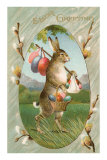 Easter Greetings, Rabbit as Hobo Posters
