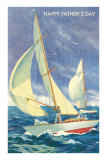 Foredeck Man Flying Spinnaker Posters