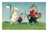 Rabbit Family with Child Posters