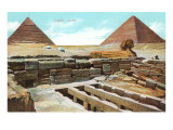 Pyramids and Sphinx at Giza, Egypt Posters