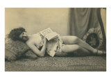 Naughty Victorian Reading Book Print