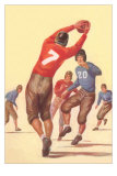 Vintage Football Player Photo