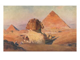 Sphinx, Pyramids and Camel Posters
