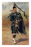 Scottish Bagpiper in Full Uniform Posters