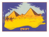 Stylized Pyramids and Camels Posters