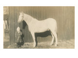 Little Girl with Big Horse Posters